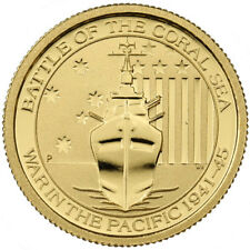 1/10 oz Australian Battle Of The Coral Sea Gold Coin (BU)
