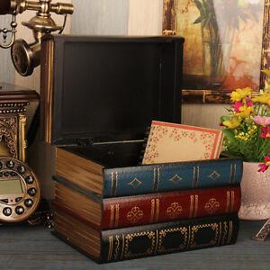 Image Is Loading Retro Vintage Decorative Fake Book Hiddien Secret Storage
