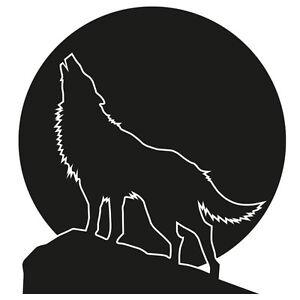 Das Bild Wird Geladen Wolfsgeheule Wandtattoo Wolf Vollmond Berge Wandaufkleber Deko Wohnzimmer