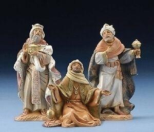 Roman-Inc-Fontanini-034-THREE-KINGS-034-NEW-5-034-Scale-Set-of-3