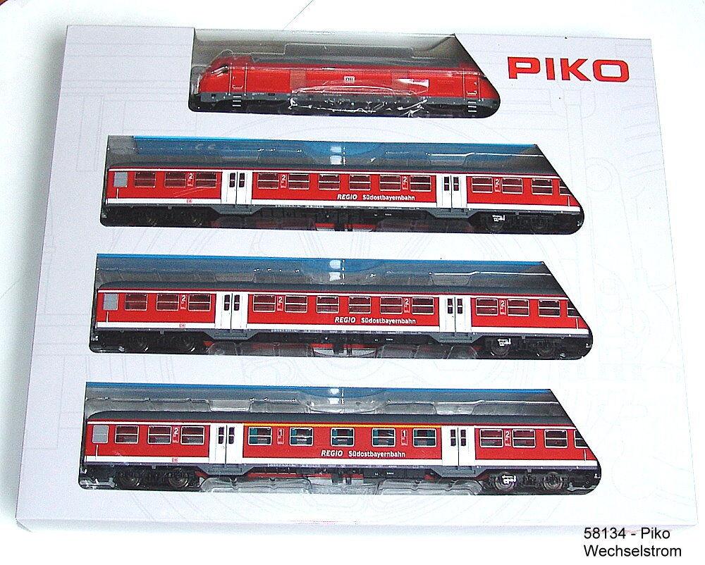 PIKO 58134-Zugset-Lok BR 245 con carrello trasporto locale-versione di corrente alternata