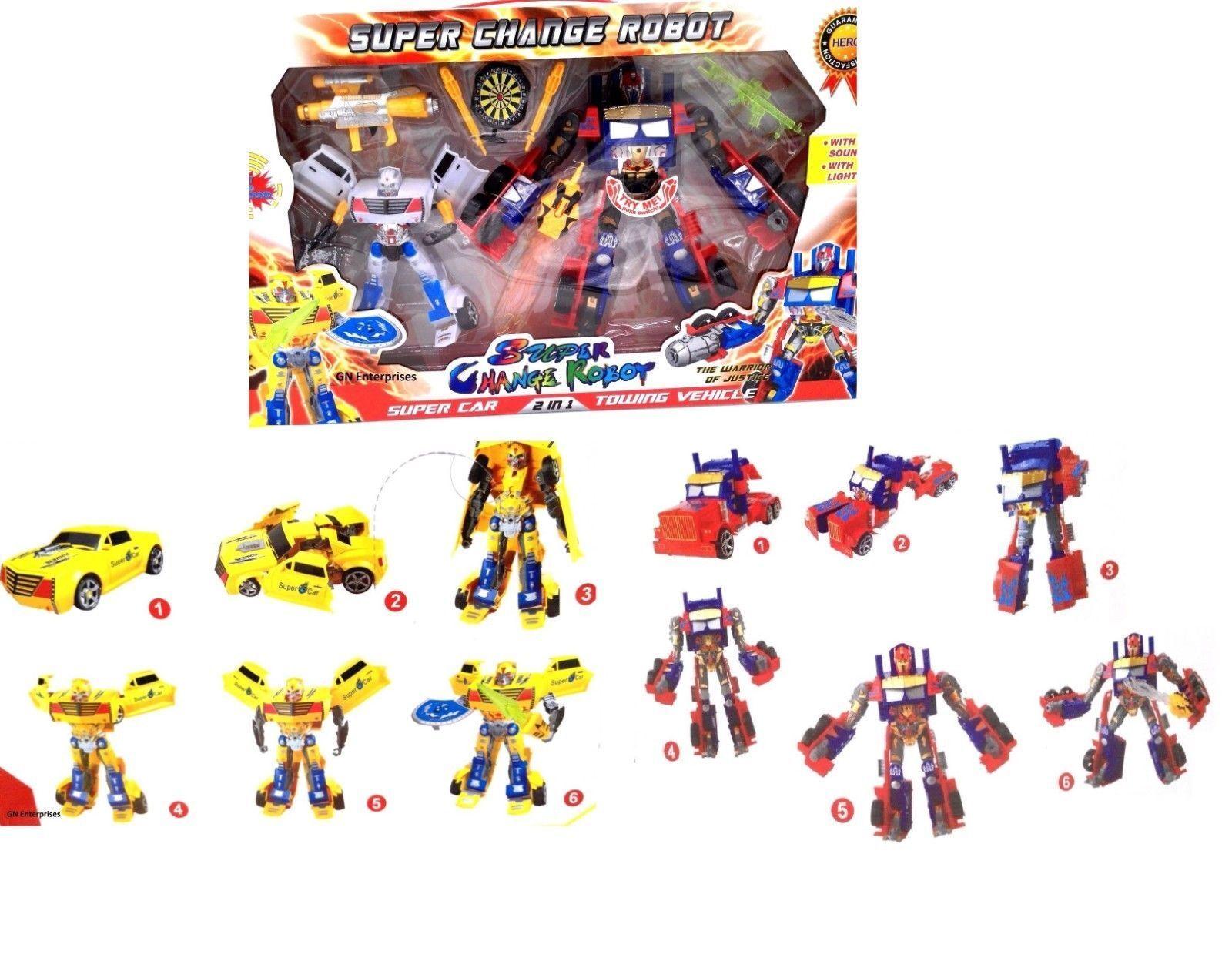 Super Cool Transformers Box Set With Sound & Lights Robot Boys Gift Set New
