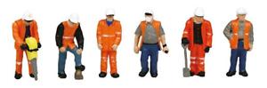 Scenecraft-36-049-Trackside-Workers-Pk6-Figures-OO-Gauge