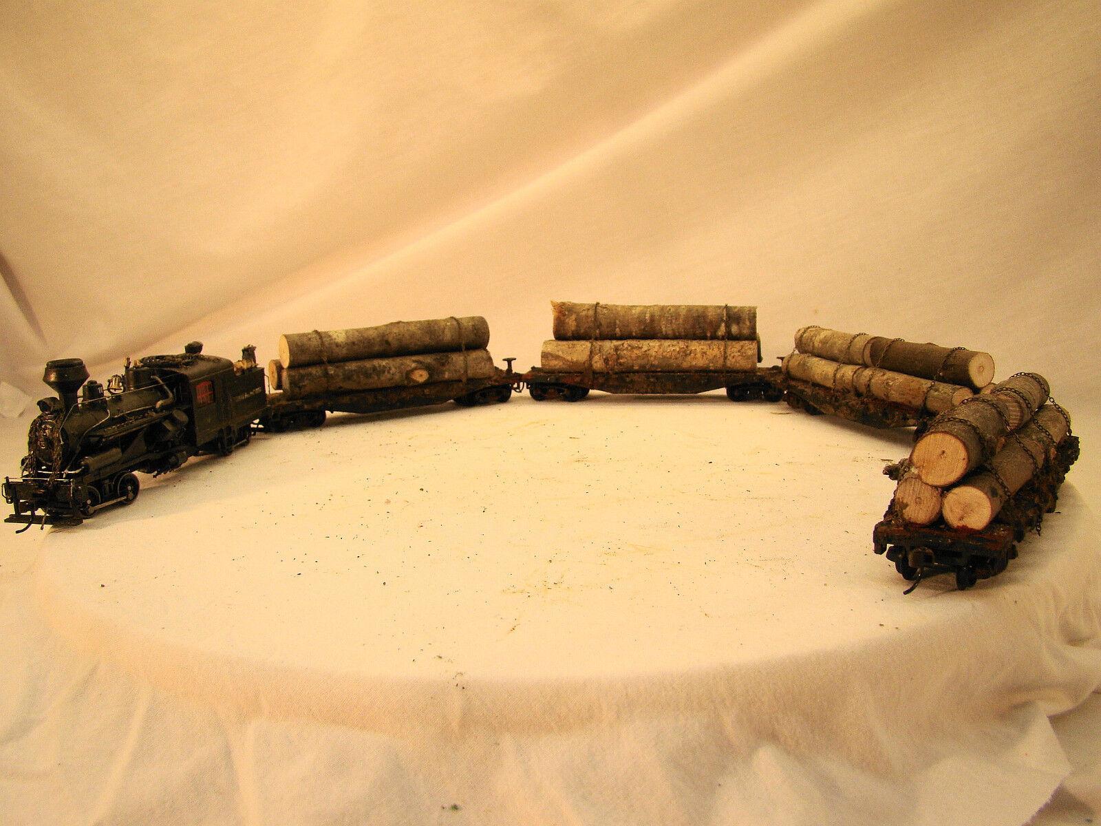 ハスラーは、4台のロギング車を含む蒸気機関車を記録します