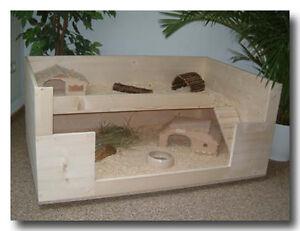 bauanleitung designer k fig f r meerschweinchen kaninchen aus holz und glas ebay. Black Bedroom Furniture Sets. Home Design Ideas