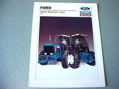 1989 Print Ad of Ford New Holland Versatile Model 276 Bidirectional Farm Tractor