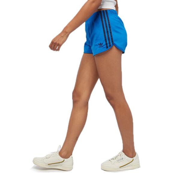 adidas Originals 3 Stripes Damen Short kurze Sporthose Firebird Hose Joggen Blau