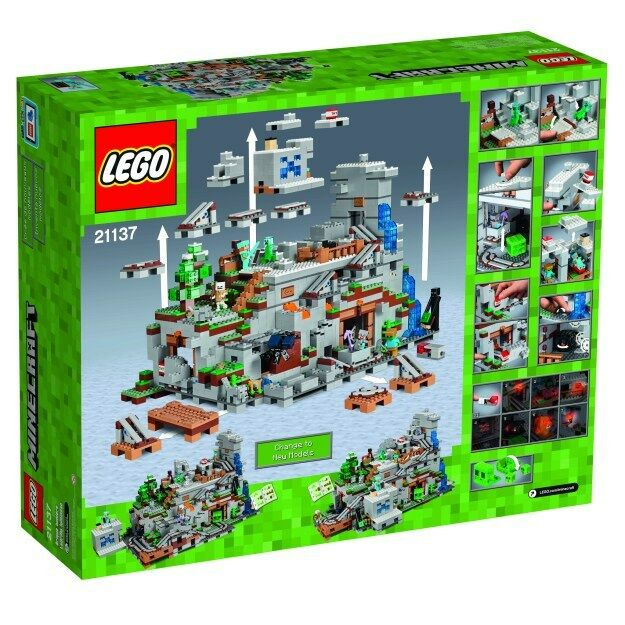 Lego Minecraft La montagne  grougete 21137  Neuf Exclusive  WORLD SHIPPING  meilleure mode