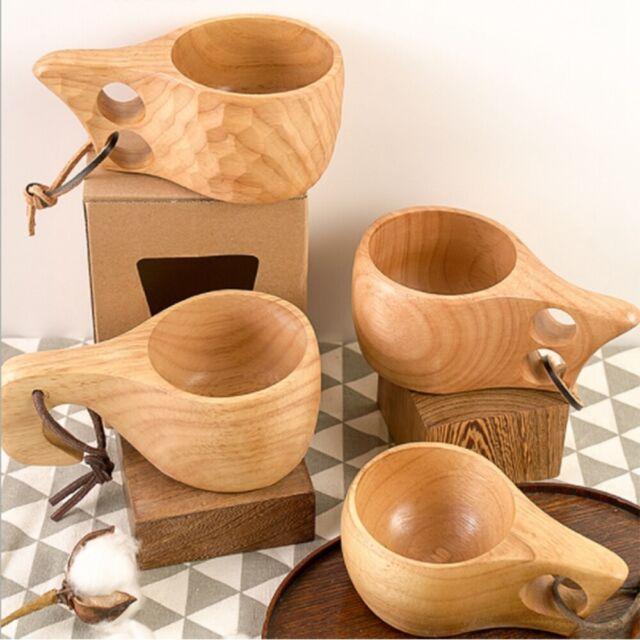 Beer Cup Wood Beer Cups Beer Mugs Natural Wooden Beer Mug for Tea Coffee