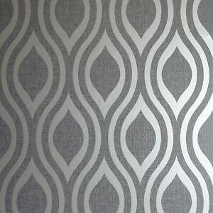 Luxe-Ogee-Peint-en-Gunmetal-Argent-par-arthouse-910202-Geometrique-Metallique