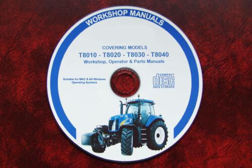 Piezas Manuales New Holland T8010 T8020 T8030 T8040 Manual de taller operador