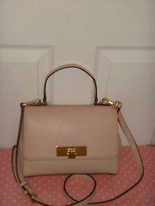 4de36843aae3 MICHAEL KORS Women MK Callie Satchel Shoulder Bag Ballet Leather ...