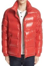 New Authentic Moncler 2017 Maya Lacquered Down Jacket Nwt Bright Red