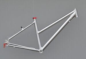 Trekkingrad-Sport-Damen-Rahmen-43-cm-silber-28-034-Aluminium-mit-rot
