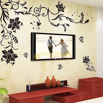 Removable Vinyl Wall Stickers Mural DIY Art Room PVC Wallpaper Home Decor BG