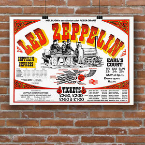Los Angeles, 1973 Art Print POSTER CANVAS  Led Zeppelin .