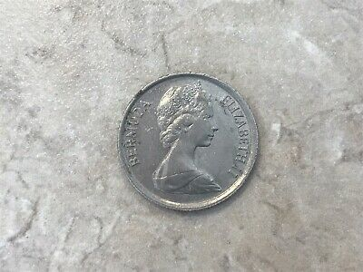 BERMUDA KM18 1981 UNC-UNCIRCULATED MINT OLD VINTAGE  LARGE 25 CENT BIRD COIN