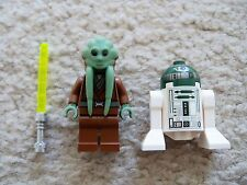 LEGO Star Wars Clone Wars - Rare Jedi Kit Fisto w/ Lightsaber & R4-P44 Droid