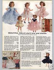 1957 PAPER AD Doll Missy Joanie Walker Posie Melodie Cindy Sweet Sue Trunk