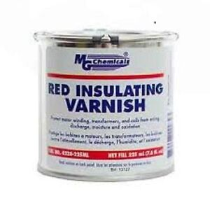 MG Chemicals 4228 Red GLPT Insulating Varnish, Class F Thermal Protection, 3000