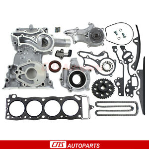 For-85-95-TOYOTA-2-4L-HD-Timing-Chain-Kit-Cover-Water-Pump-Oil-Pump-Head-Gasket