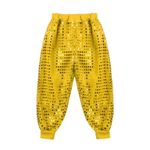 Kids Sequins Jazz Hip Hop Dance Costumes Waistcoat Jacket Pants Street Dancewear