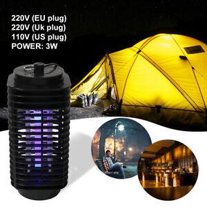 Anti-Moustique-Lampe-Electrique-Noir-Piege-Zapper-Mouche-LED-Tueur-insect