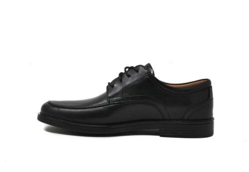 Clarks Men/'s Un Aldric Park 26132576 in Black Leather Sz 8-13 NEW
