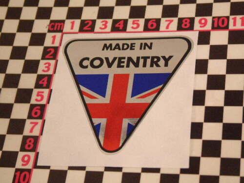 Fait à Coventry Autocollant Chrome-Triumph GT6 Spitfire Herald Vitesse 2500 TR7