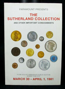 Vintage 1981 Coin Auction Catalog The Sutherland Collection Nyc Us Coins Ebay