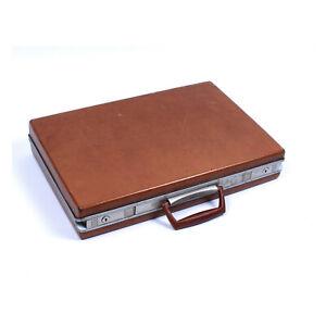 Vintage-SAMSONITE-Hard-Shell-Briefcase-Tan-Light-Brown