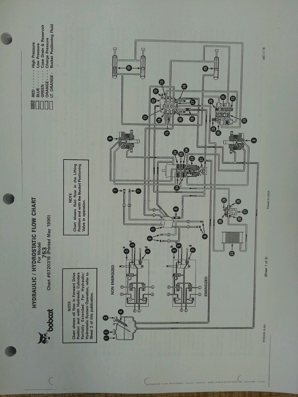 s l1600 bobcat 753 hydraulic flow diagram wiring diagrams control