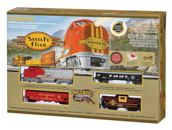 Bachmann Diesel Ho Santa Fe Flyer Train Set 00647 Nuevo en Caja Bachman H-O