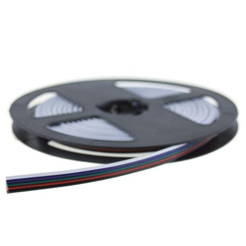Flachbandkabel 5-polig RGBW LED Streifen Verlängerung LED RGB+W Kabel; 20 Meter