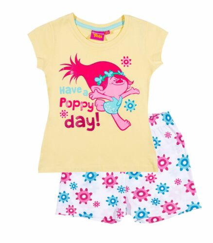 Girls Pyjamas Short Sleeve T-Shirt Shorts Set New Official 2017 Age 2-12 Years