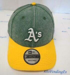 87932470 Oakland Athletics A's Men's New Era 9TWENTY Rugged Canvas Adjustable ...
