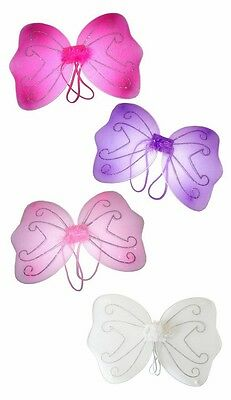 Girls Small Baby Fairy/Butterfly Wings Children Fancy Dress UP Party 34cm x 25cm
