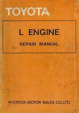 1976 TOYOTA L ENGINE MOTOR REPAIR MANUAL WERKSTATTHANDBUCH ENGLISCH 98348