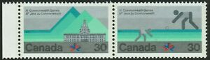 Canada-sc-762a-XI-Commonwealth-Games-Building-amp-Lawn-Bowling-Ho-Pair-Mint-NH