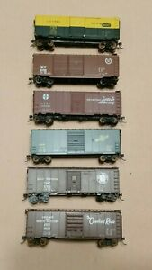 HO-Scale-Athearn-Accurail-40-039-Boxcars-GN-CNW-MP-CMO-ATSF-Lot-of-6
