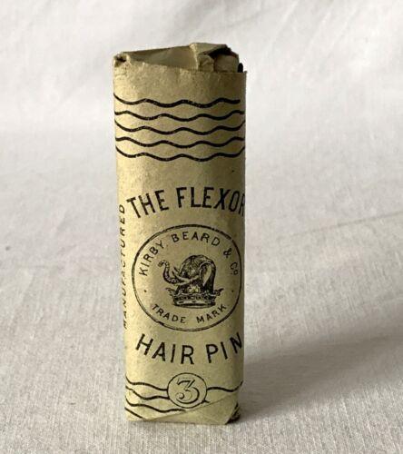 BN Vintage Paper Packet Kirby Beard /& Co FLEXOR HAIR PINS No 3