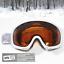 DAMEN-Skibrille-S2-orange-getoent-Anti-Fog-Panorama-Optik-Brille-weiss-yx32-3763 Indexbild 2
