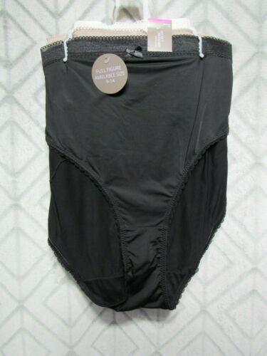 New Secret Treasures Bikini Panties Set of 3 Size 14 Black Brown White Nylon