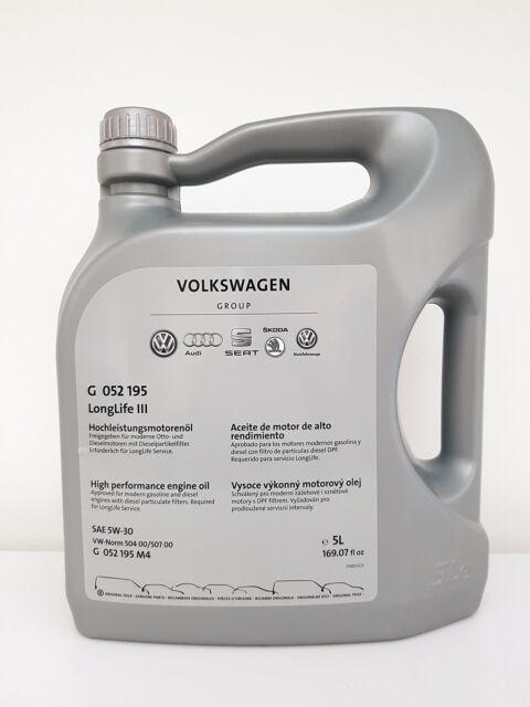 Original VW Audi Seat Skoda LongLife 3 III 5L 5W-30 Motoröl Öl 5W30 G 052195M4
