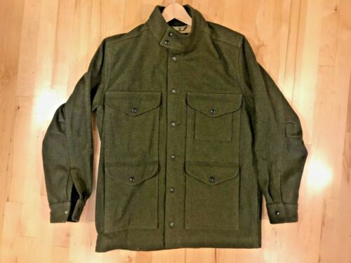 Filson Greenwood Wool Jacket Size M. Forest Green