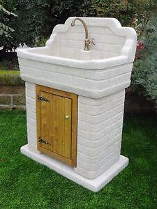 Bonfante lavello acquaio da giardino pietra ricostruita - Lavandini esterni ...