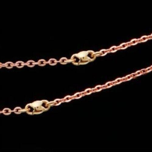 environ 44.98 cm 14K Solid or Rose DPT Bijoux Chaîne Collier RG119 16.53 in environ 41.99 cm //17.71 in