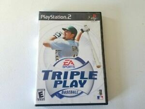PlayStation-2-EA-Sorts-Triple-Play-Baseball-Video-Game-Disc-Manual-Case-Complete