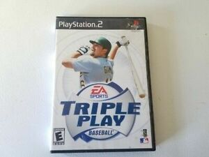 PlayStation 2 EA Sorts Triple Play Baseball Video Game Disc Manual Case Complete