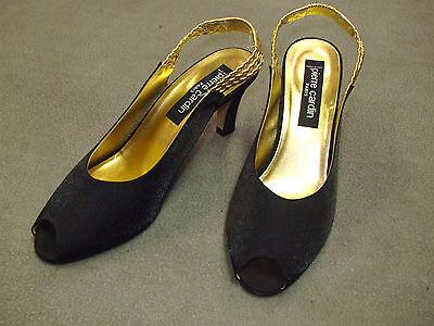 Damenschuhe Pierre Cardin Damen Pumps schwarz gold Gr. 38 mit 6 cm Absatz